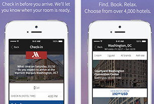 Marriott's new App expands mobile check-ins