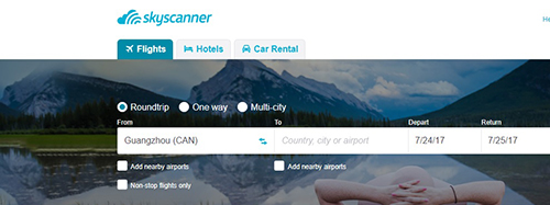 Skyscanner sees growth in its hotel and car rental business