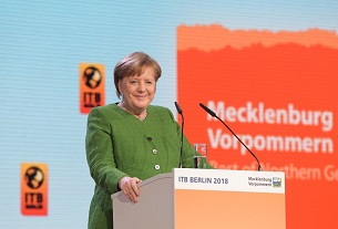 German Chancellor attends opening gala of ITB Berlin 2018
