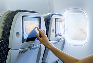 American carriers are again competing over in-flight entertainment